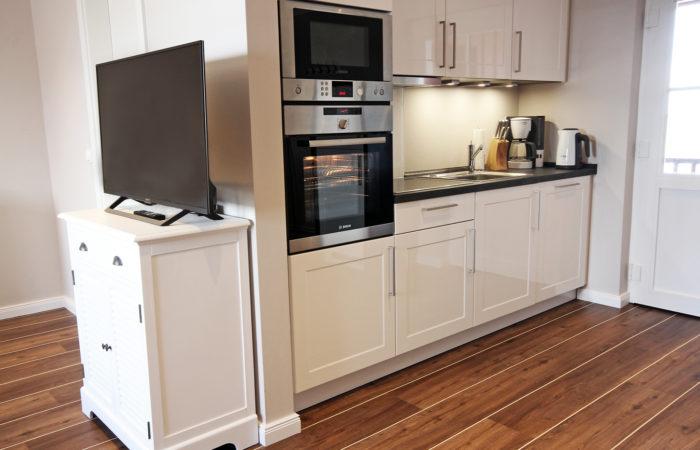 Meerblick Maisonette Apt. 2-Etagen-Apt. Küchenzeile