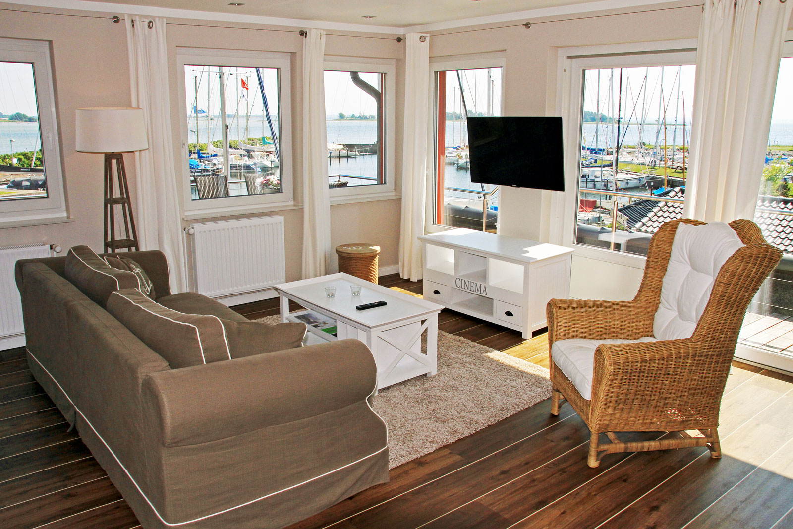 Meerblick Penthouse Apt. Yachthafen-Blick
